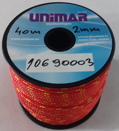 Konop Mini Roll Unimar 2 mm crveno-žuti (40m)