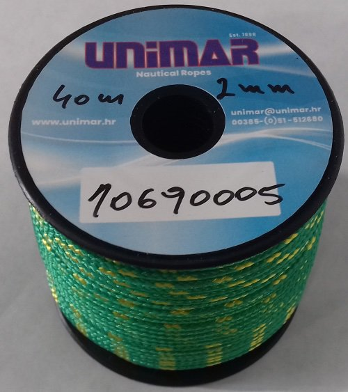 Konop Mini Roll Unimar 2 mm zeleno-žuti (40m)