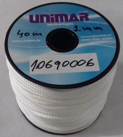 Konop Mini Roll Unimar 2 mm bijeli (40m)