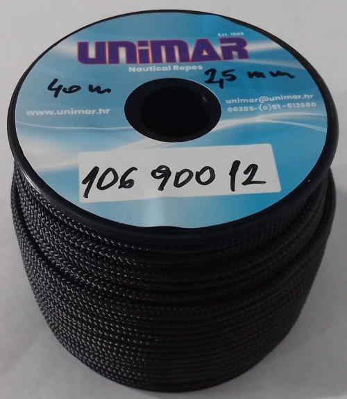Konop Mini Roll Unimar 2,5 mm crni (30m)