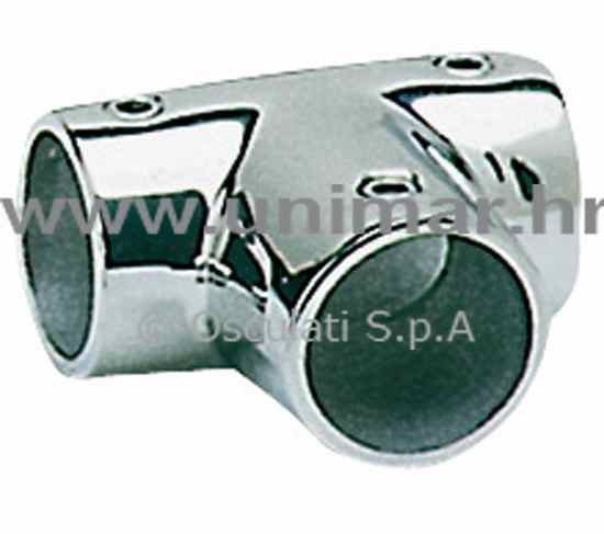 spoj T za ograde inox 90° 22mm